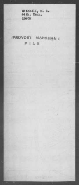 Mitchell, H S - State: Tennessee - Year: [Blank]