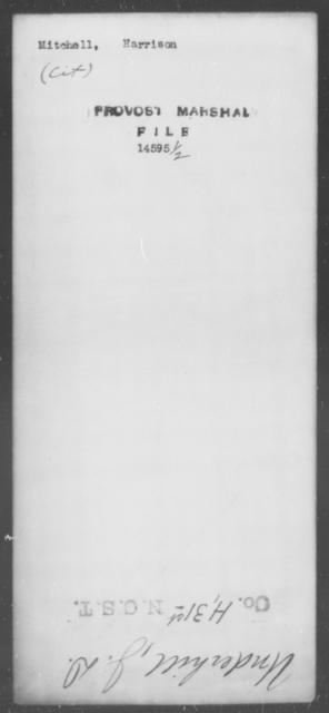 Mitchell, Harrison - State: [Blank] - Year: [Blank]
