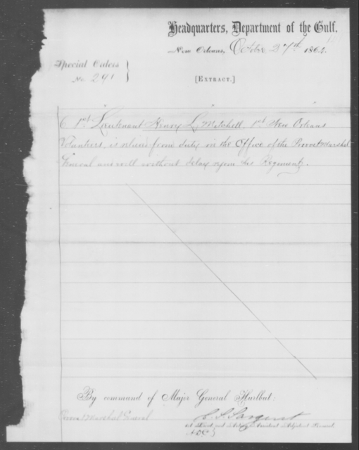 Mitchell, Henry L - State: [Blank] - Year: 1864