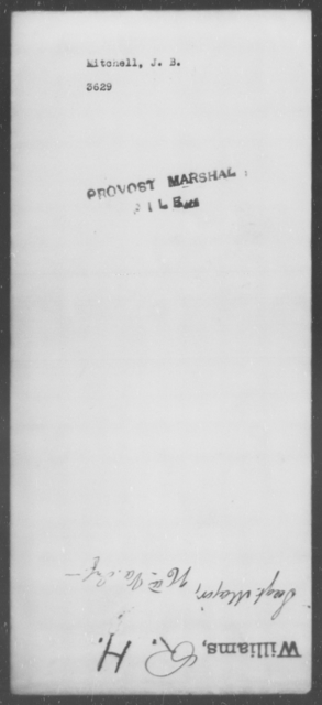 Mitchell, J B - State: [Blank] - Year: [Blank]
