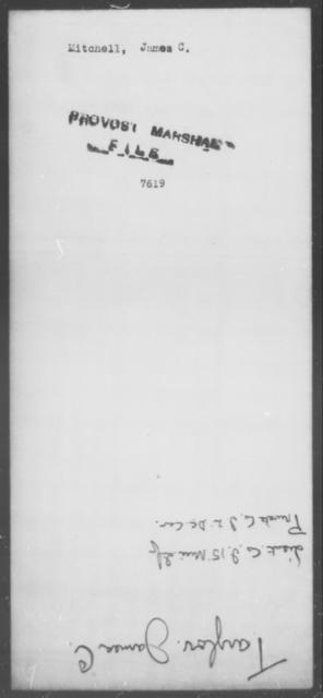 Mitchell, James C - State: [Blank] - Year: [Blank]