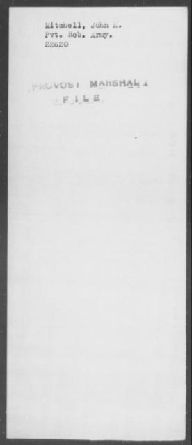 Mitchell, John M - State: [Blank] - Year: [Blank]