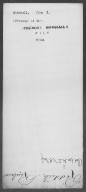 Mitchell, John S - State: [Blank] - Year: [Blank]