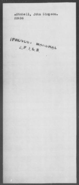 Mitchell, John Simpson - State: [Blank] - Year: [Blank]