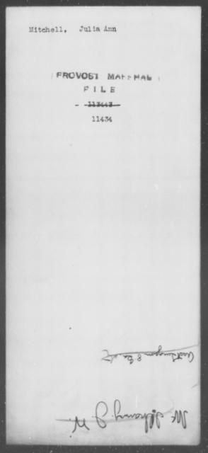 Mitchell, Julia Ann - State: [Blank] - Year: [Blank]
