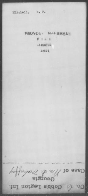 Mitchell, K P - State: [Blank] - Year: [Blank]