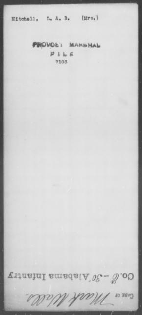 Mitchell, L A B - State: [Blank] - Year: [Blank]