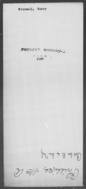 Mitchell, Mabry - State: [Blank] - Year: [Blank]