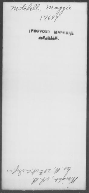 Mitchell, Maggie - State: [Blank] - Year: [Blank]