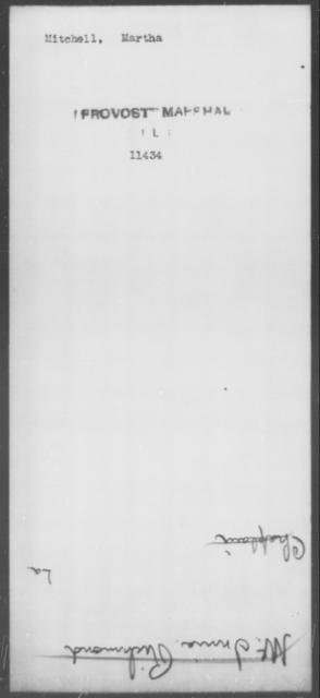 Mitchell, Martha - State: [Blank] - Year: [Blank]