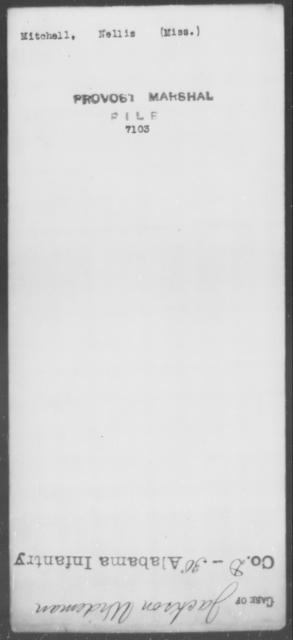 Mitchell, Nellis - State: [Blank] - Year: [Blank]