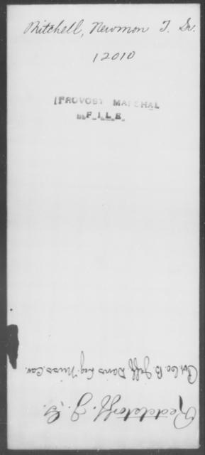 Mitchell, Newmon T - State: [Blank] - Year: [Blank]