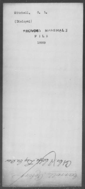 Mitchell, O L - State: [Blank] - Year: [Blank]