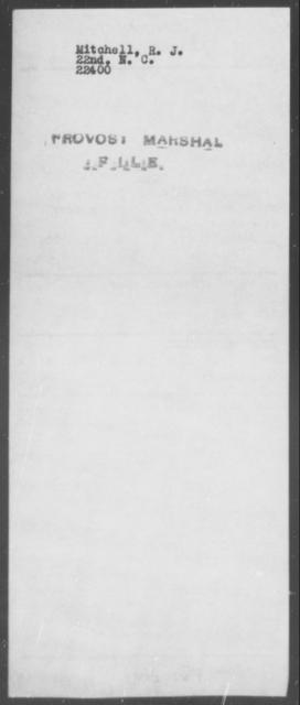 Mitchell, R J - State: North Carolina - Year: [Blank]