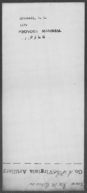 Mitchell, R M - State: [Blank] - Year: [Blank]