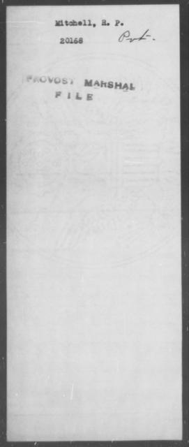 Mitchell, R P - State: [Blank] - Year: [Blank]