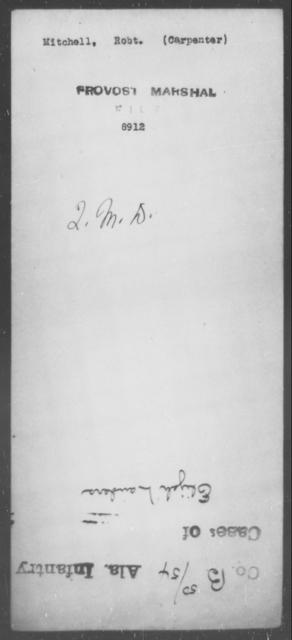 Mitchell, Robt - State: [Blank] - Year: [Blank]
