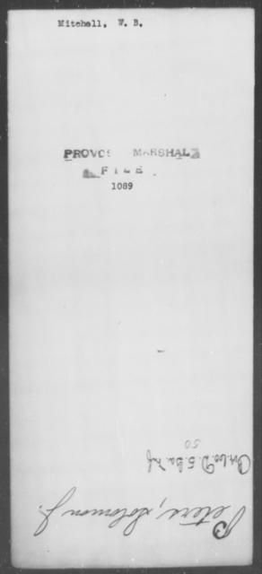 Mitchell, W B - State: [Blank] - Year: [Blank]