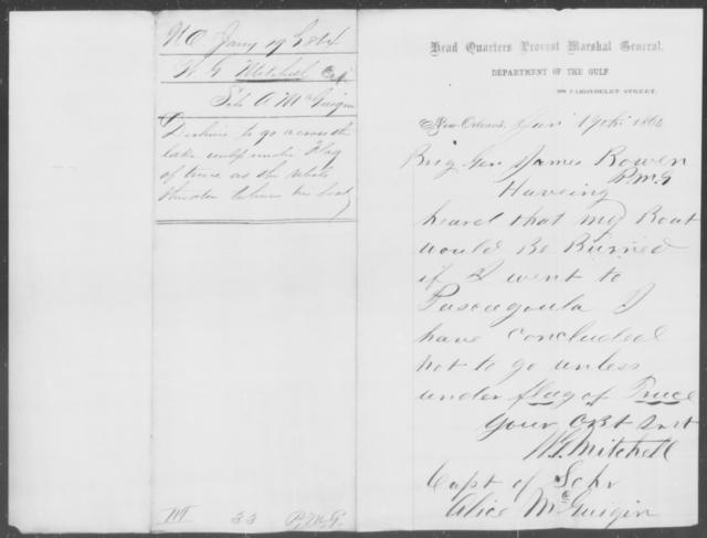 Mitchell, W G - State: [Blank] - Year: 1864