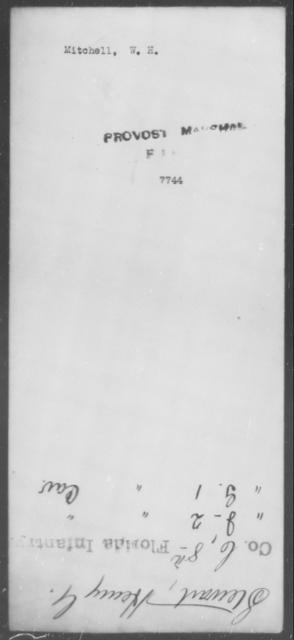 Mitchell, W H - State: [Blank] - Year: [Blank]