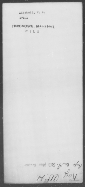 Mitchell, W S - State: [Blank] - Year: [Blank]