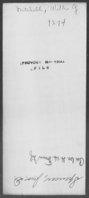 Mitchell, Willis G - State: [Blank] - Year: [Blank]
