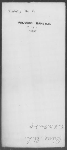 Mitchell, Wm M - State: [Blank] - Year: [Blank]