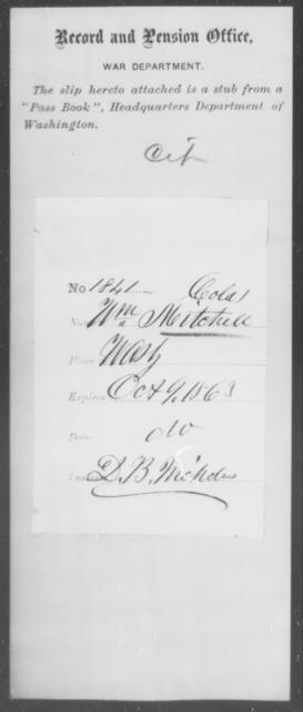 Mitchell, Wm - State: Washington - Year: 1863