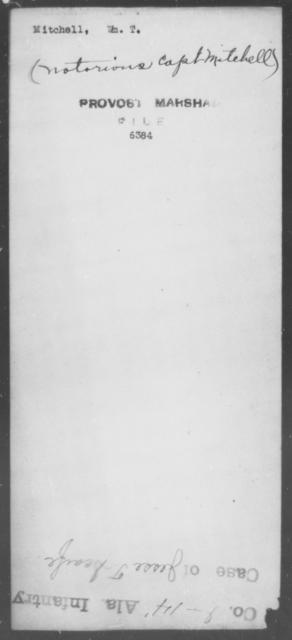 Mitchell, Wm T - State: [Blank] - Year: [Blank]