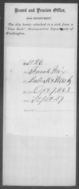 Mix, French - State: Washington - Year: 1863