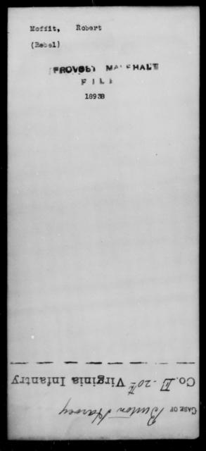 Moffit, Robert - State: [Blank] - Year: [Blank]