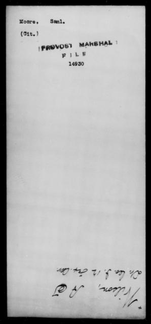 Moore, Saml - State: [Blank] - Year: [Blank]