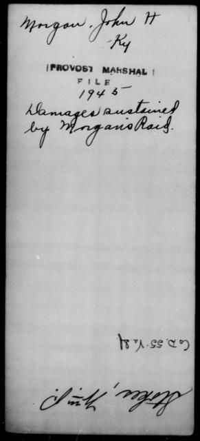 Morgan, John H - State: Kentucky - Year: [Blank]