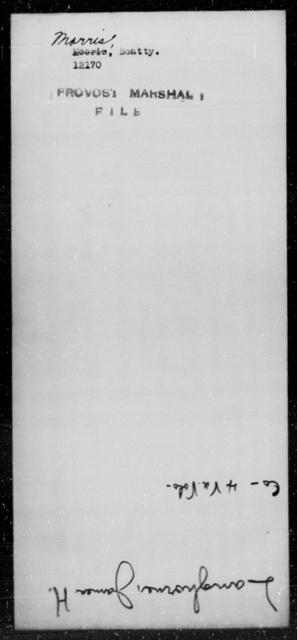 Morris, Beatty - State: [Blank] - Year: [Blank]