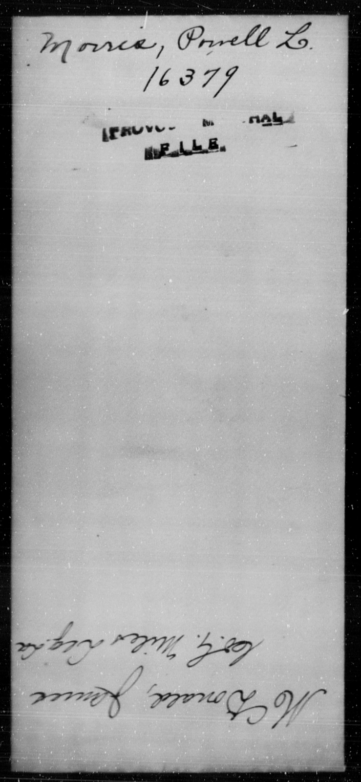 Morris, Powell L - State: [Blank] - Year: [Blank]