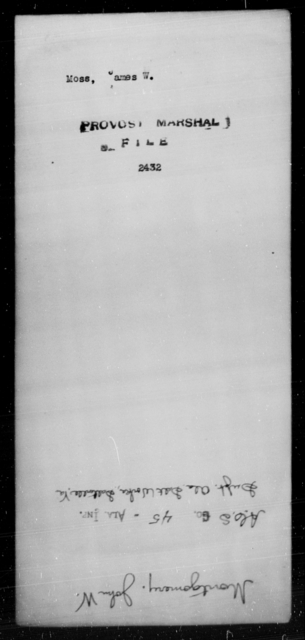 Moss, James W - State: Kentucky - Year: [Blank]