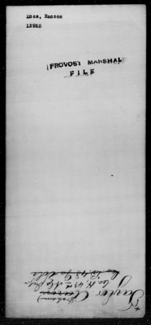 Moss, Ranson - State: [Blank] - Year: [Blank]