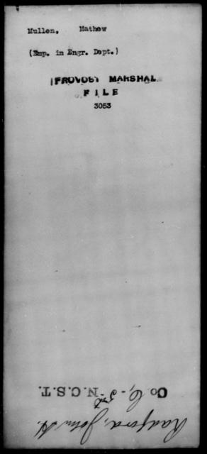 Mullen, Mathew - State: [Blank] - Year: [Blank]