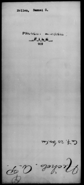 Mullen, Samuel G - State: [Blank] - Year: [Blank]