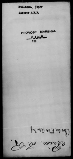 Mulligan, Henry - State: [Blank] - Year: [Blank]