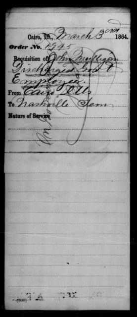 Mulligan, John - State: Illinois - Year: 1864