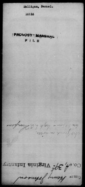 Mulligan, Samuel - State: [Blank] - Year: [Blank]