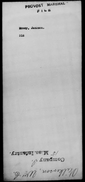 Muncy, Jackson - State: [Blank] - Year: [Blank]