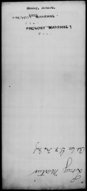 Munday, Bernard - State: [Blank] - Year: [Blank]