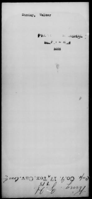 Munday, Walker - State: [Blank] - Year: [Blank]