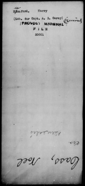Munnford, Harry - State: [Blank] - Year: [Blank]