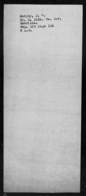 Murphy, J T - State: Virginia - Year: 1864
