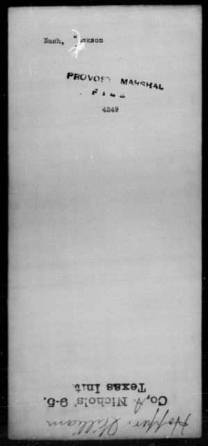 Nash, Jackson - State: [Blank] - Year: [Blank]