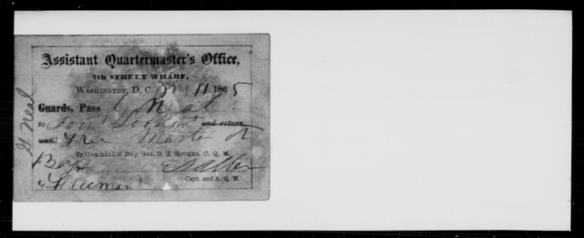 Neal, G - State: District of Columbia - Year: 1865