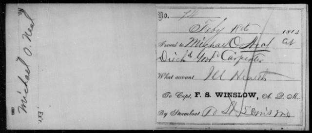 Neal, Michael O - State: Missouri - Year: 1864